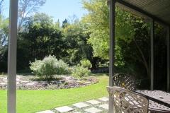 Hillside Farm - Len's cottage verandah to garden